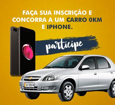 Faça sua inscrição e concorra a um carro 0km e iphone: Participe